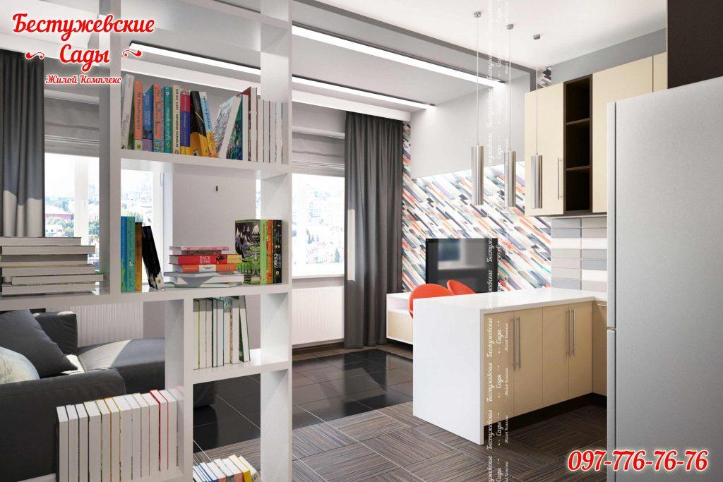 Квартиры студии с ремонтом в Харькове