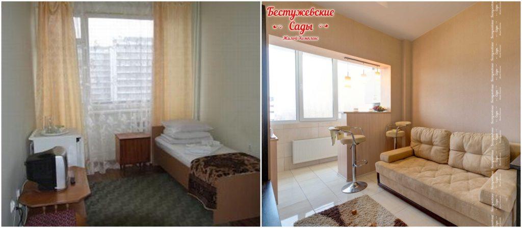"Комната в общежитии и комната в гостинке в ЖК ""Бестужевские сады"""