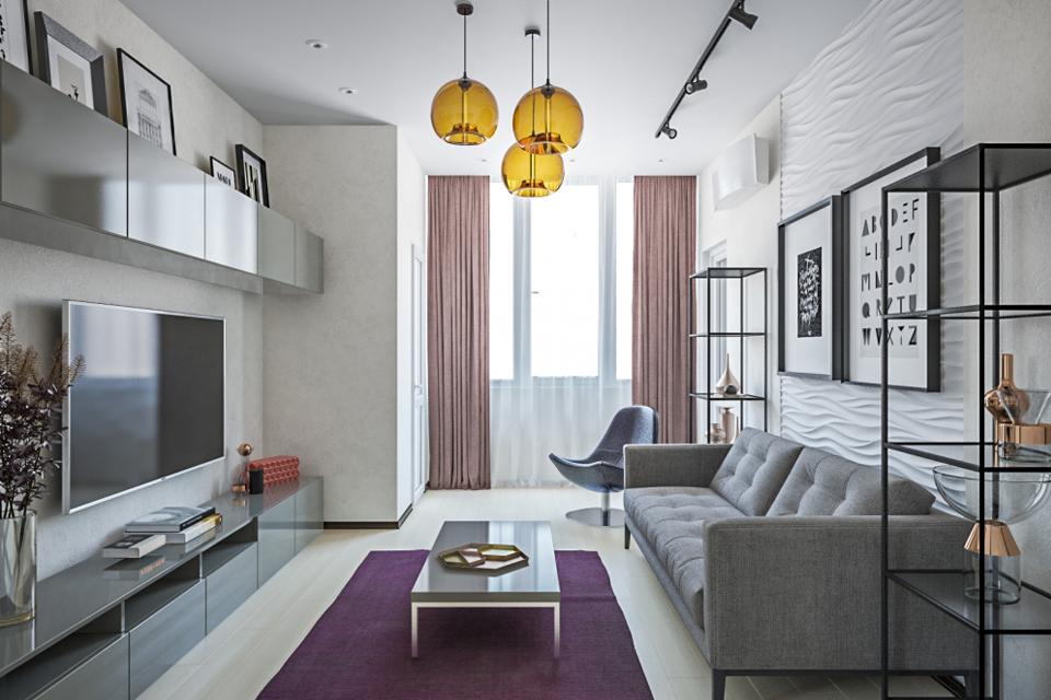 Как оформить гостиную в малогабаритной квартире