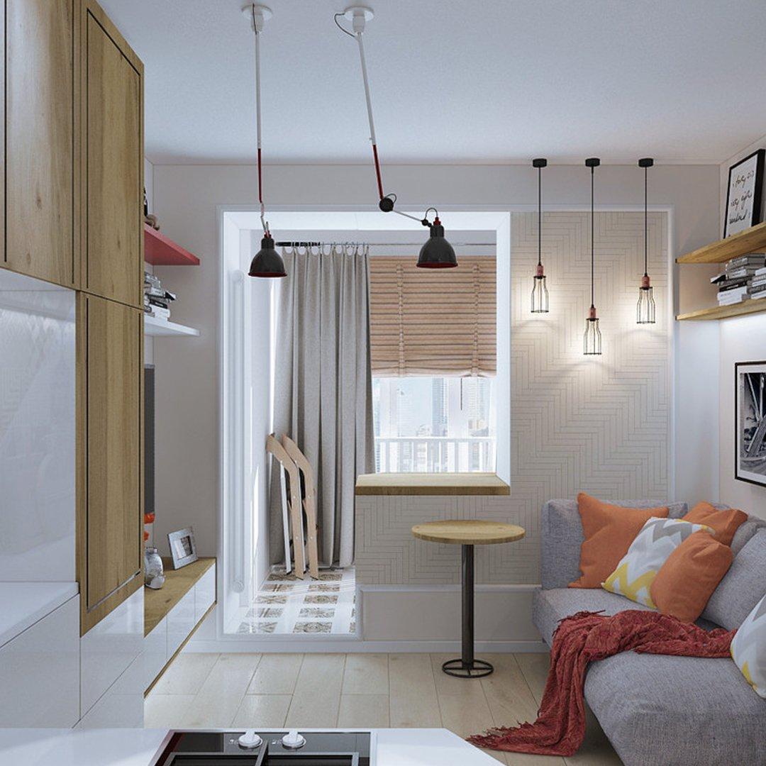 Дизайн квартиры-студии 17 кв.м. для молодого человека