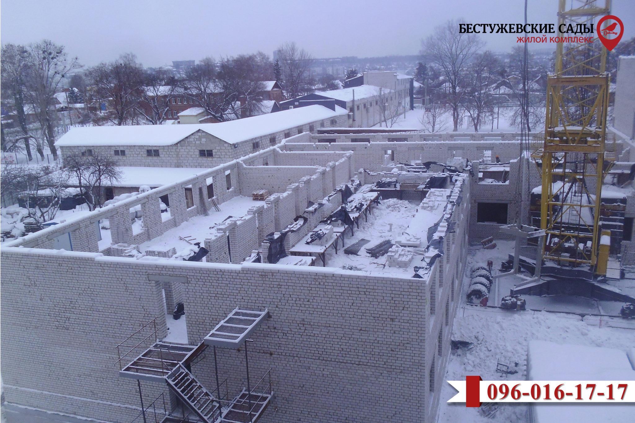 """Строительные работы в Жилом комплексе """"Бестужевские сады - 2"""" продолжаются"""