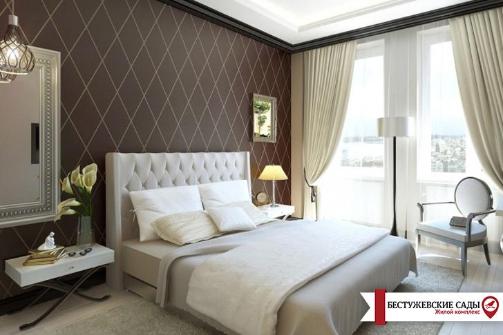 Спальня в стиле модерн подойдет под любую квартиру