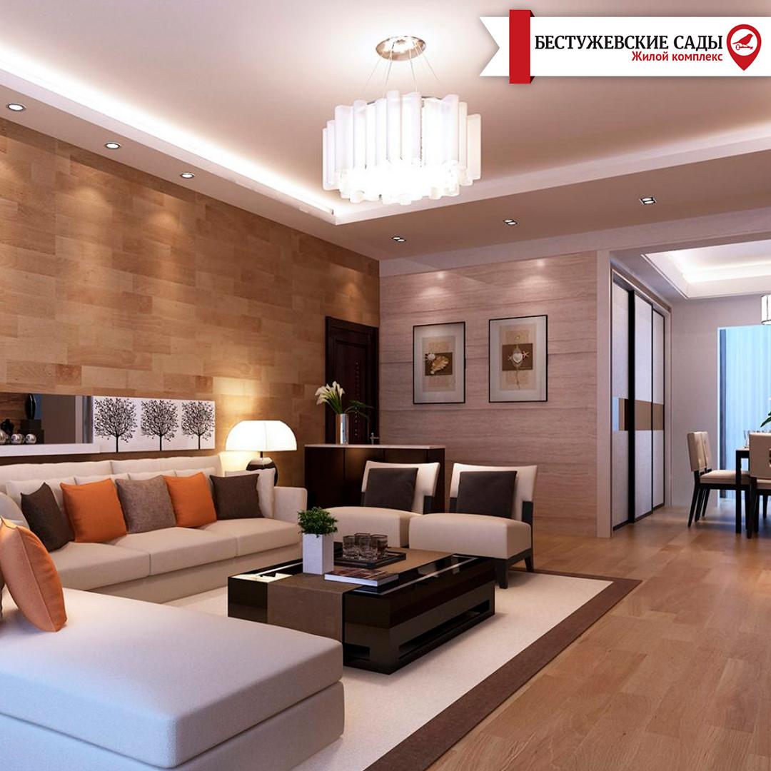 Вітальня кімната в стилі контемпорарі