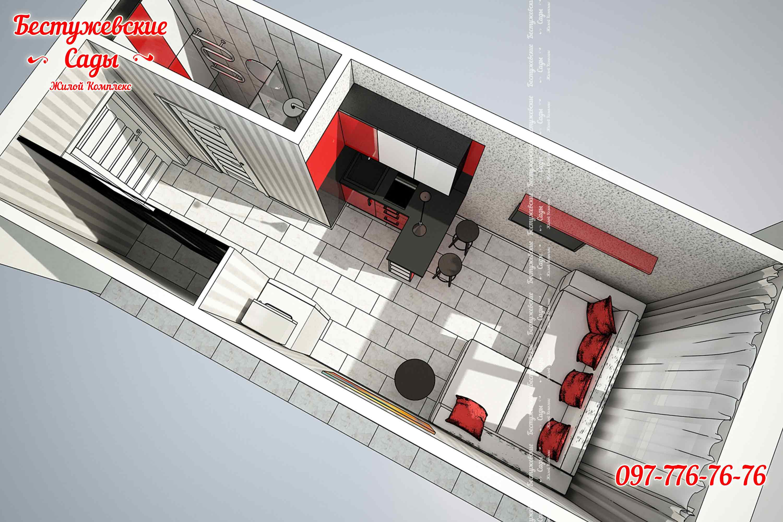 Дизайн интерьера гостинки